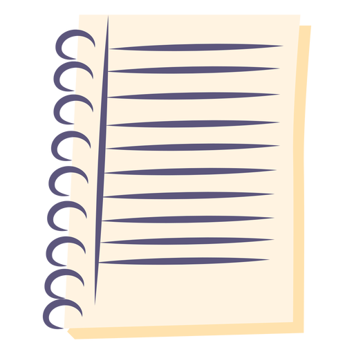 Spiral notebook flat icon Transparent PNG