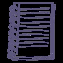 Icono de trazo de cuaderno espiral