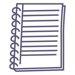 Open Spiral Notebook Flat Icon Transparent Png Svg Vector File
