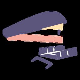 Icono plano grapadora y grapas