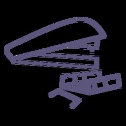 Icono de trazo de grapadora y grapas