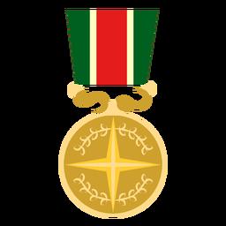Icono de medalla redonda estrella