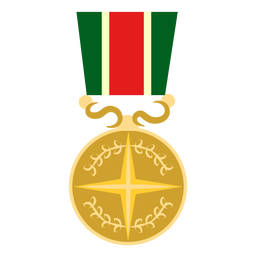 Star round medal icon