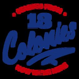 Iniciado a partir de letras de colônias