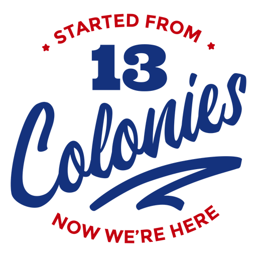 Started from colonies lettering