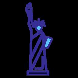 Elemento de traçado da estátua da liberdade
