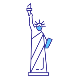 Statue of liberty stroke element