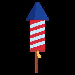 Elemento de foguete de fogos de artifício listrado