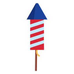 Striped firework rocket element
