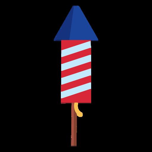 Elemento cohete de fuegos artificiales a rayas