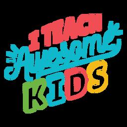 Ensinar crianças impressionantes letras de design