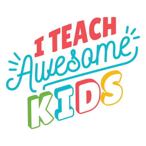 Teach awesome kids lettering design