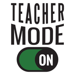 Teacher mode on lettering design