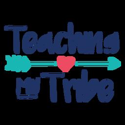 Enseñando a mi tribu diseño de letras