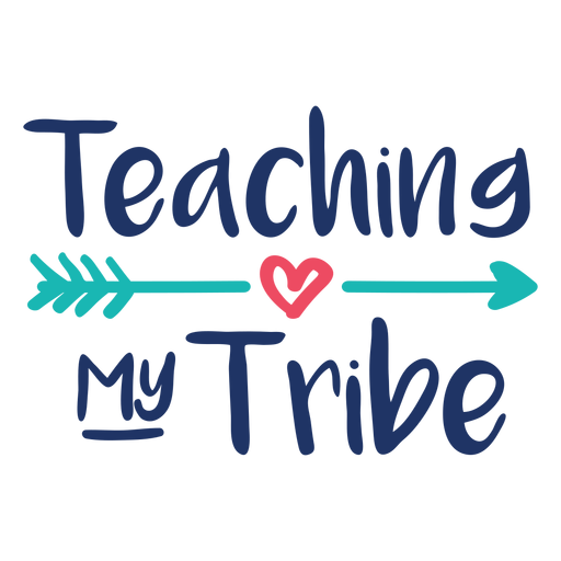 Teaching my tribe lettering design Transparent PNG