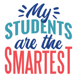 The smartest students lettering design