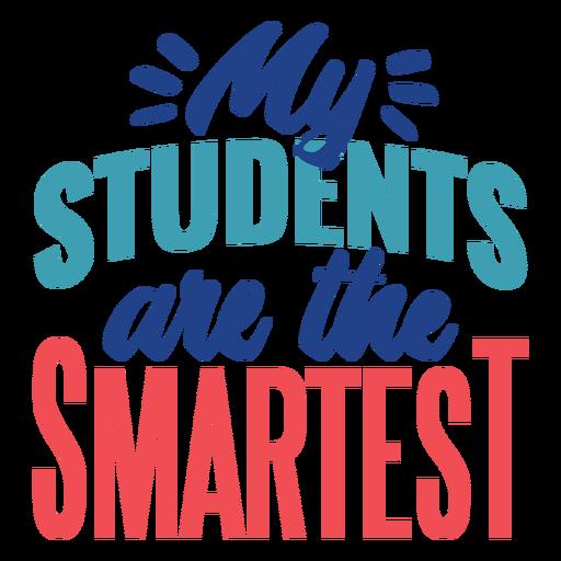 El diseño de letras para estudiantes más inteligentes.
