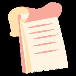 Ícone plana de caderno espiral superior