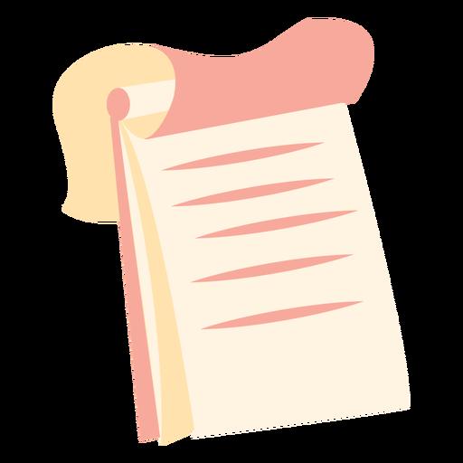 Icono plano de cuaderno de espiral superior Transparent PNG