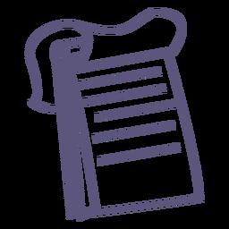 Icono de trazo de cuaderno espiral superior