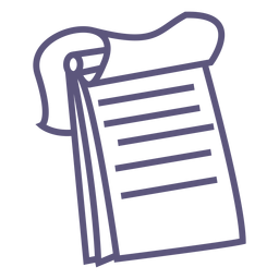 Top spiral notebook stroke icon