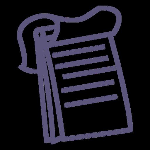 Icono de trazo de cuaderno de espiral superior Transparent PNG