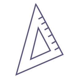 Icono de trazo de regla de triángulo