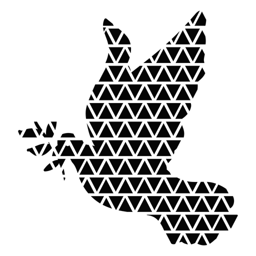 Triangle shapes dove silhouette