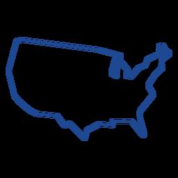 Curso de mapa dos Estados Unidos