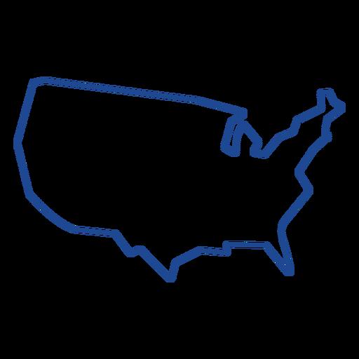 United states map stroke