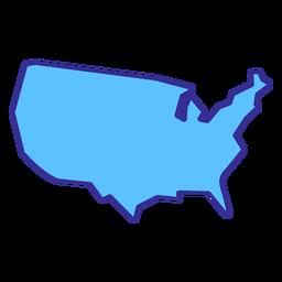 Elemento de traçado de mapa dos Estados Unidos