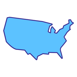 Elemento de trazo de mapa de Estados Unidos