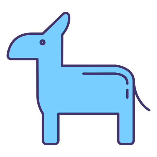 Elemento de símbolo del partido democrático estadounidense