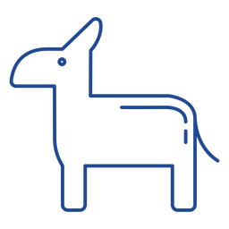 Us democratic party symbol stroke