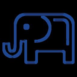 Curso de símbolo do partido republicano nos