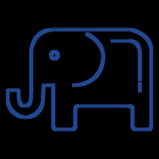 Trazo de símbolo de partido republicano de Estados Unidos Transparent PNG