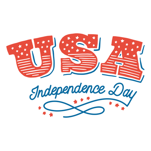 Usa independence day lettering Transparent PNG