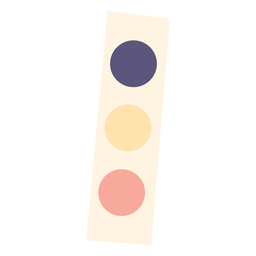 Watercolor paint set flat icon