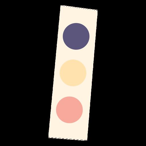 Conjunto de pintura de acuarela icono plano