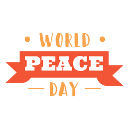 World peace day lettering