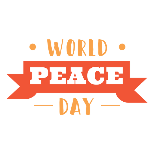 World peace day lettering Transparent PNG