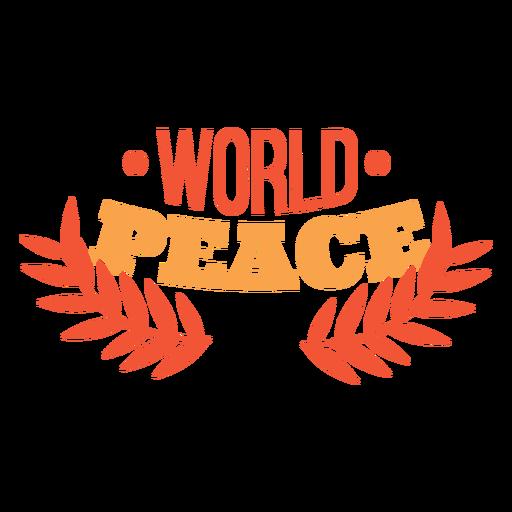 Letras de paz mundial