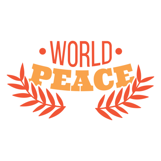 World peace lettering