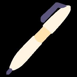 Icono plano de pluma de escritura