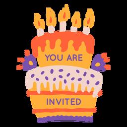 Sie sind eingeladen, Kuchen zu beschriften