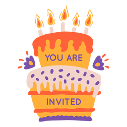 You are invited cake lettering