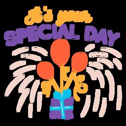 Letras de tu día especial