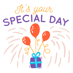 Your special day lettering