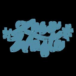 Zero waste lettering