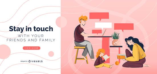 Stay in touch slider template
